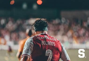 Christian Bolaños, jugador del Deportivo Saprissa.