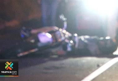 Accidente de motos dejó a dos fallecidos en Desamparados
