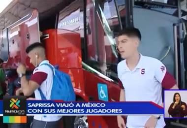 Saprissa viajo a Mexico con sus mejores jugadores
