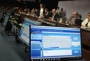 Sistema electrónico de votación  agilizará sesiones de Corte Plena. Poder Judicial