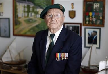 Muere uno de los últimos sobrevivientes franceses del desembarco de Normandía. Foto AFP