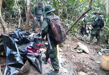 Operativo en Crucitas permite destrucción de champas y aprehensión de siete personas