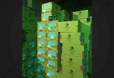 PCF decomisa 550.000 cigarrillos y 24.000 pares de zapatos