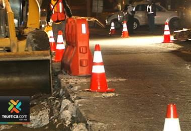 Este martes iniciaron labores de sustitución de losas de concreto en pista Florencio del Castillo