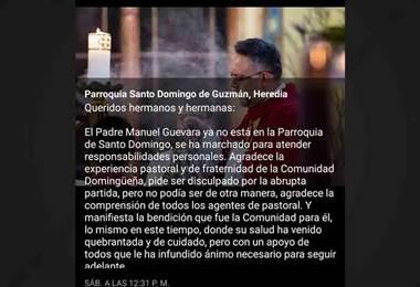 Supuesto abuso sexual del sacerdote Manuel Guevara se habría dado cuando la víctima tenía 12 años