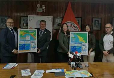 CNE presentó mapas de evacuación de 34 playas costarricenses en caso de Tsunami