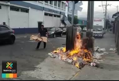 Incendian aguja del tren ubicada en Cristo Rey