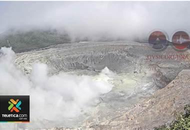 Volcanes Rincón de la Vieja y Poás muestran mucha más estabilidad
