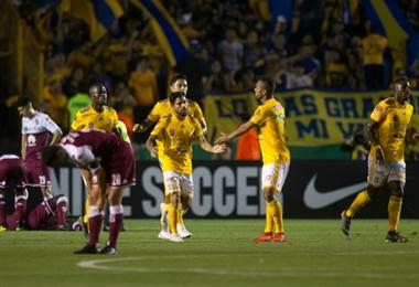 Tigres aplastó a Saprissa y lo eliminó de la Liga de Campeones de Concacaf 2019.|AFP
