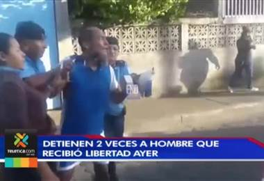 Preso político nicaragüense a quien ayer le dieron la libertad fue detenido dos veces este jueves