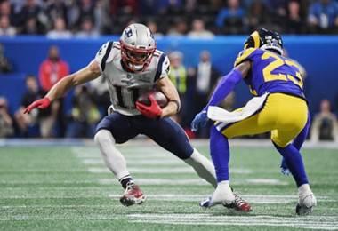 Julian Edelman de los New England Patriots.|AFP