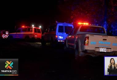 Cuatro personas se perdieron este domingo en el Braulio Carrillo