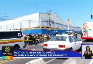 Un motociclista murió y otro resultó gravemente herido en accidentes de tránsito este fin de semana
