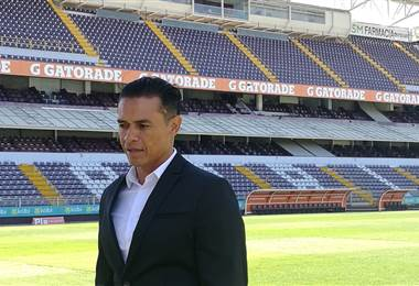 Wálter Centeno, técnico del Saprissa.|Fernando Araya