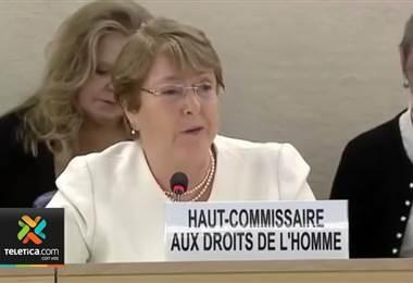 A Michelle Bachelet le preocupa que en Nicaragua no queda ningún órgano de derechos humanos