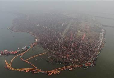 Kumbh Mela India 2019. Peregrinaje más grande del mundo. AFP.