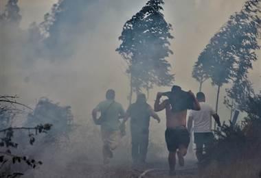 Incendios en Chile. AFP.