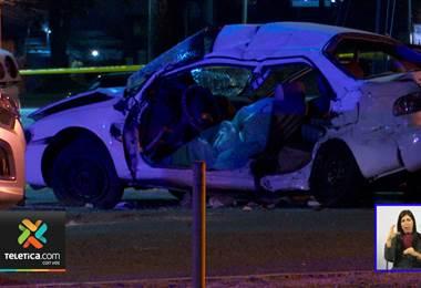 Accidente de tránsito dejó un fallecido y a una mujer gravemente herida este martes en Cartago