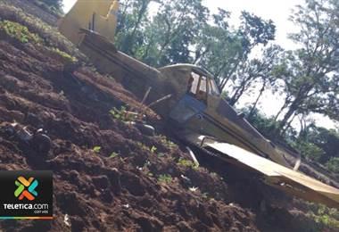 Este miércoles se presentó la caída de una avioneta fumigadora en Sarapiquí