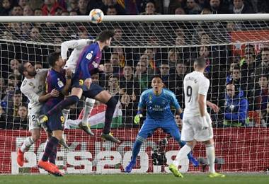 Keylor Navas fue estelar en el clásico español por la Copa del Rey.|AFP