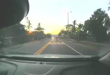 Video muestra aparatoso choque de ambulancia en Caldera