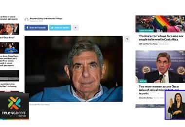 Editora de un libro del expresidente Óscar Arias lo acusa también por supuesto acoso sexual