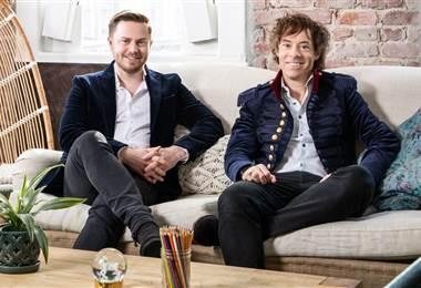 Alex Tew y Michael Acton Smith creadores de app Calm. BBC Mundo.
