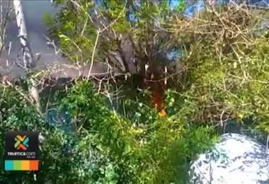 Incendio consumió casi por completo una vivienda en Ciudad Colón