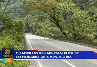 Ruta 32 que comunica a San José y Limón se encuentra bajo trabajos de rehabilitación