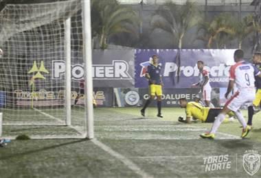 José Luis Cordero anota el 1-2 para San Carlos. |Prensa San Carlos