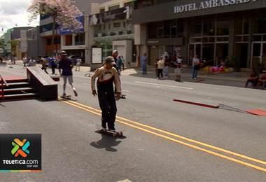 Este domingo se realizó en el Paseo Colón la primera fecha del campeonato nacional de skateboard