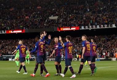 Barcelona se proclamó campeón de la Liga al derrotar el Levantés | AFP