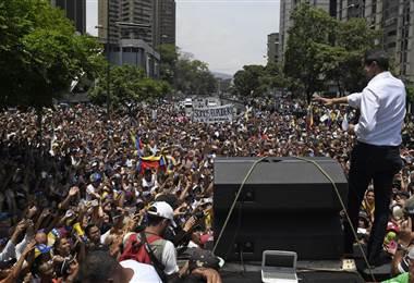 El opositor Juan Guaidó. AFP