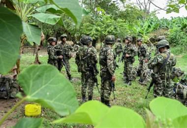 Soldados colombianos. Foto AFP