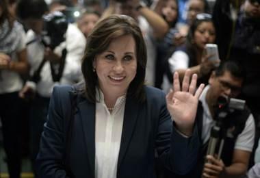 Sandra Torres, candidata presidencial de Guatemala. Foto AFP