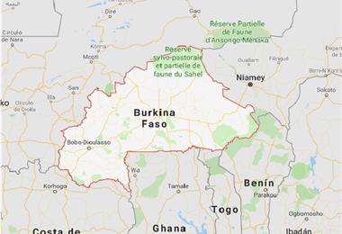 Burkina Faso. Captura de pantalla de Google Maps