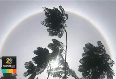Halo solar sorprendió a los costarricenses este sábado