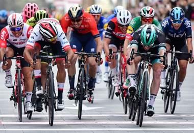 Gaviria y Viviani en el Giro de Italia   AFP