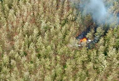 Accidente aéreo ocurrido en Punta Islita en diciembre de 2017  AFP.