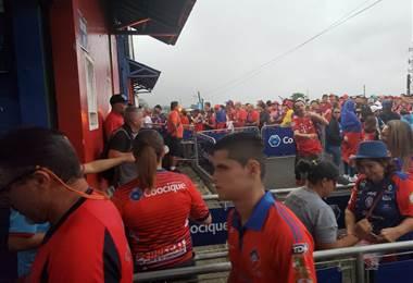 apertura de puertas en el estadio de San Carlos