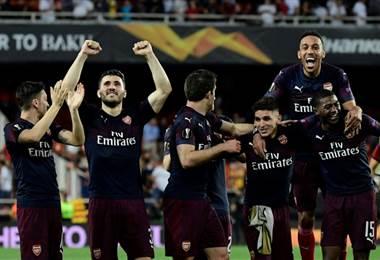 Arsenal jugará la final de la Europa League. AFP