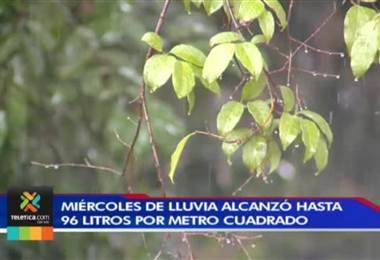 Este miércoles se convirtió en uno de los días con más lluvia en el centro del territorio nacional