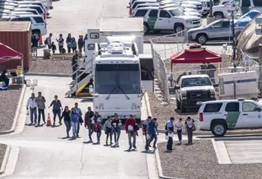 Migrantes centroamericanos. Foto AFP