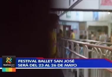 Cuarta edición del Festival Ballet San José reunirá a bailarines de varios países