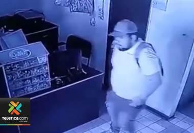 Cámaras delataron a tres sujetos que asaltaron y robaron en locales comerciales y una vivienda