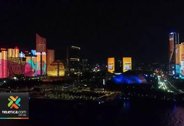 Cautivador espectáculo de luces marcó el Festival de Cocina Asiática en China
