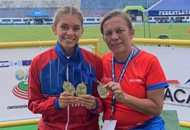 Noelia Vargas regresa al país con tres medallas de oro