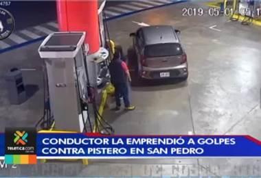 Video muestra cómo un conductor la emprende a golpes contra un pistero en San Pedro de Montes de Oca