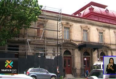 Concluyeron los trabajos de restauración en la fachada sur del Teatro Nacional