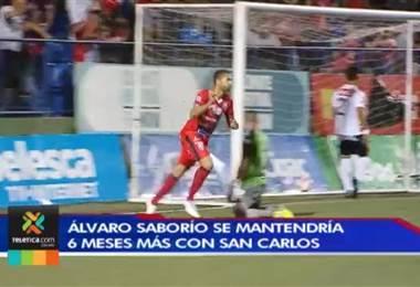 Álvaro Saborío estaría seis meses más con San Carlos